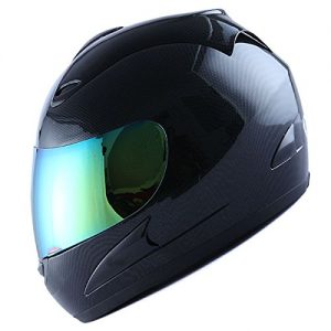 WOW Motorcycle Street Bike Full Face Helmet Carbon Fiber: