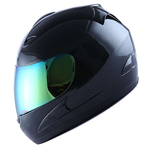 WOW Motorcycle Street Bike Full Face Helmet Carbon Fiber