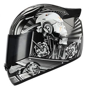 Storm Motorcycle Full Face Helmet (Mechanic Carbon Fiber):