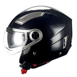 STORM MOTORCYCLE OPEN FACE HELMET: