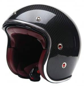 Motorcycle Open Face Carbon Fiber Helmet YEMA YM-628: