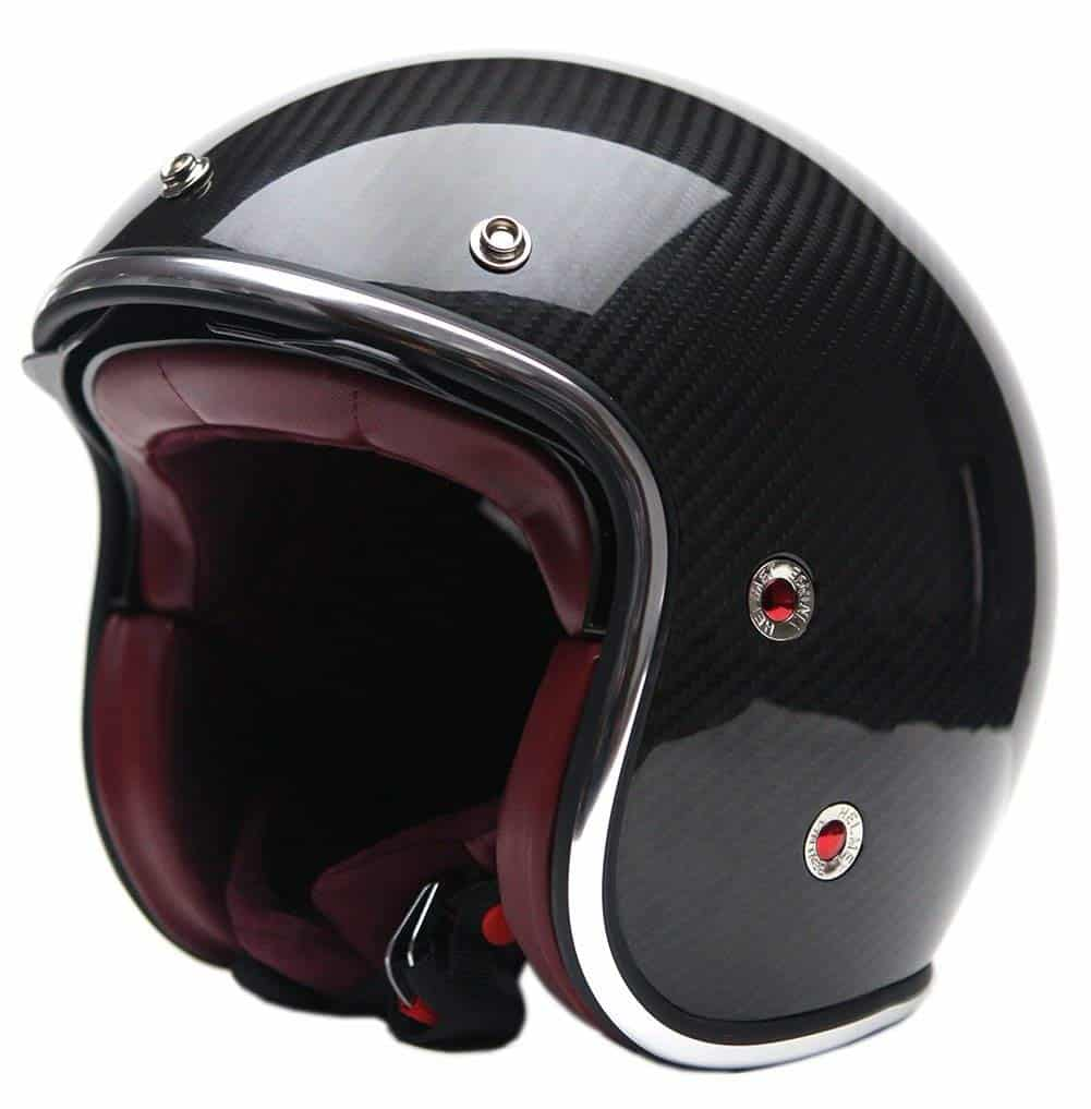 Motorcycle Open Face Carbon Fiber Helmet YEMA YM-628